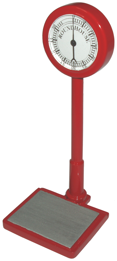 Cast weighing scales